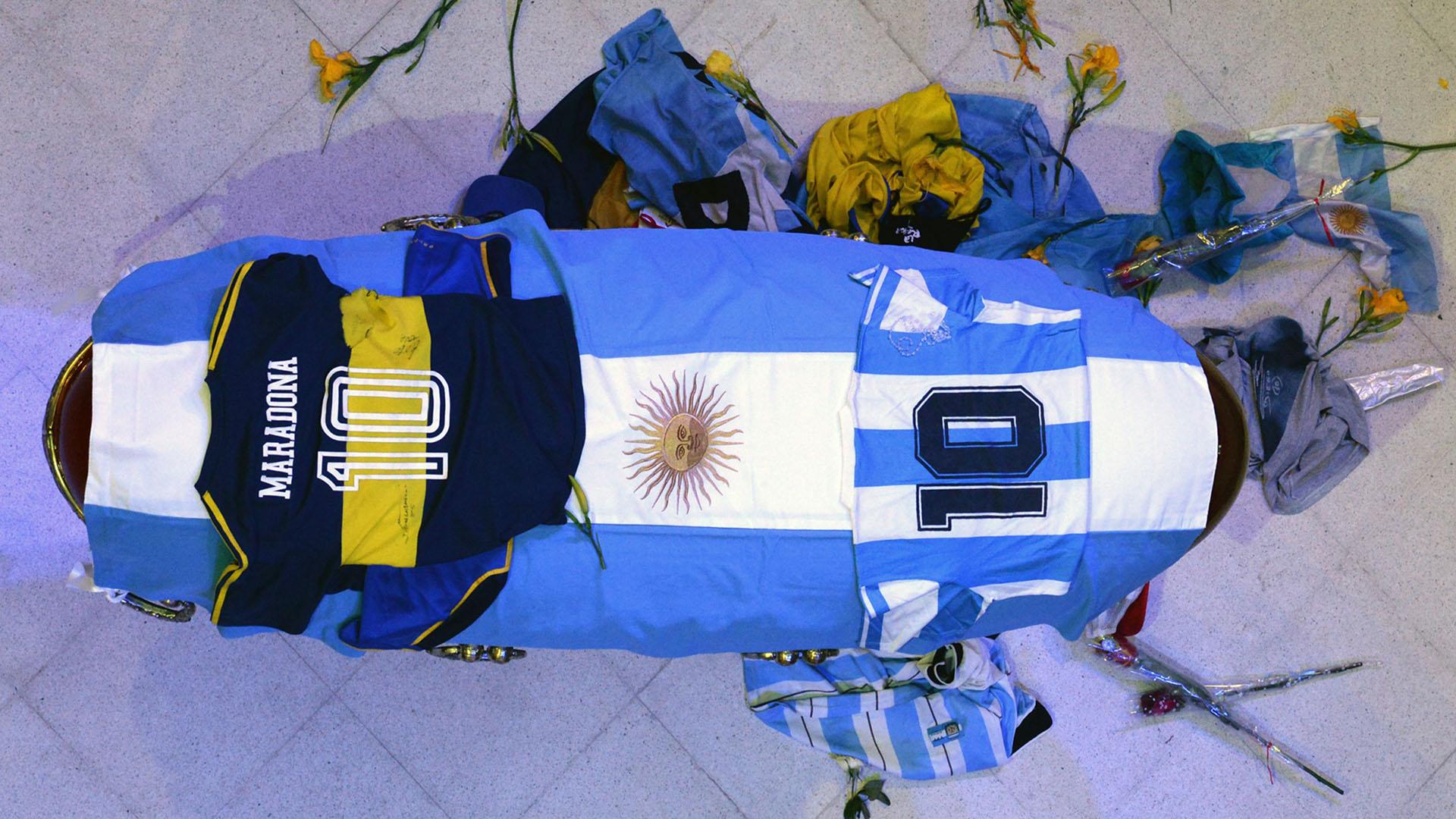 Velatorio de Maradona en Casa Rosada