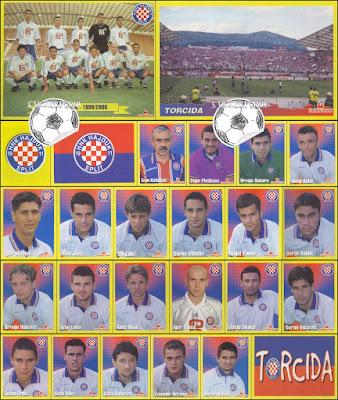 Hajduk Split sličice album Nogomet 1999/00