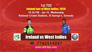 cricket prediction 100 win tips IRE vs WI