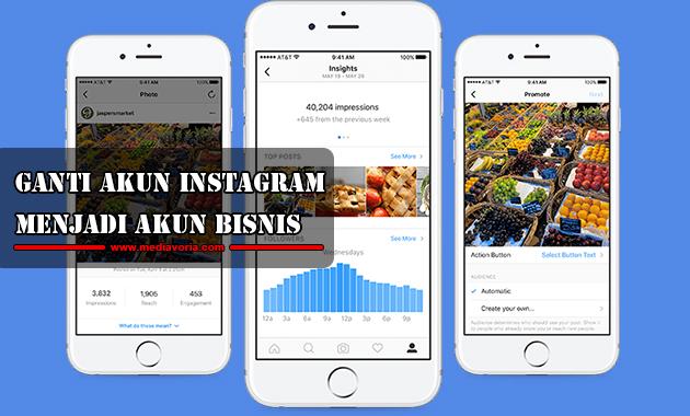 Cara Ganti Akun Instagram Menjadi Akun Bisnis