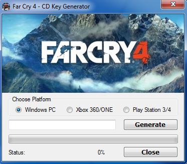 Far Cry 4 Key generator
