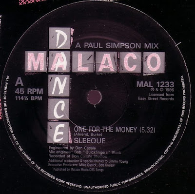 Sleeque One For The Money A Paul Simpson Mix