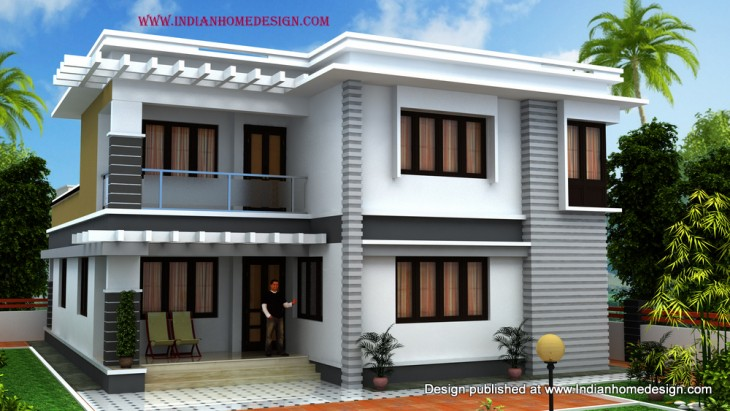 Beautiful south indian houses images for Indian home front design