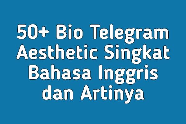 50+ Bio Telegram Aesthetic Singkat Bahasa Inggris dan Artinya