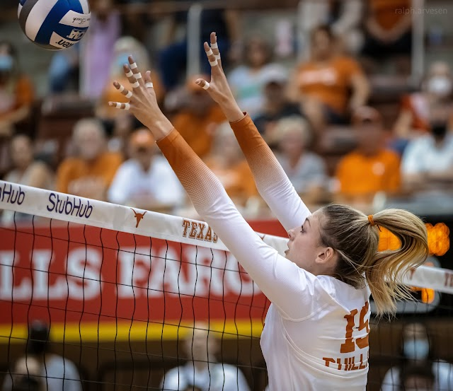 Volleyball game between the Texas Longhorns and Texas State Bobcats at Gregory Gymnasium in Austin, Texas