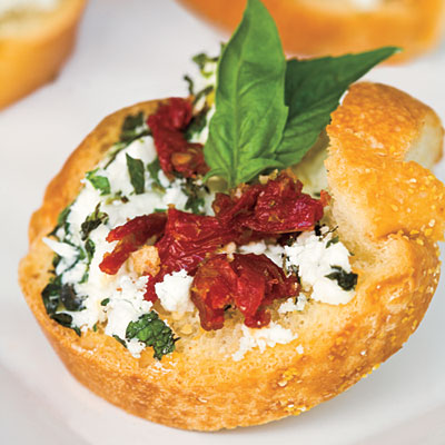 goat cheese bites with sun dried tomatoes are a quick and delicious appetizer