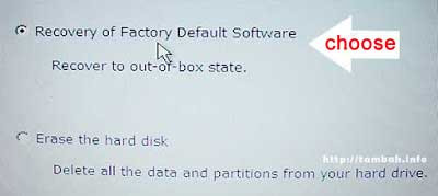 laptop factory reset toshiba