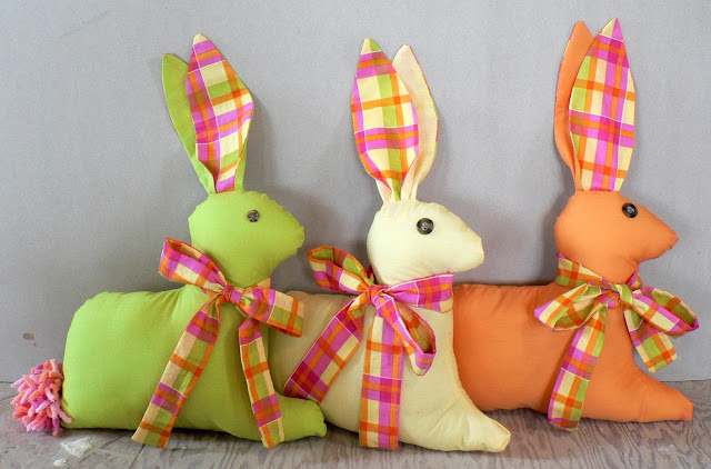 sewn rabbit, bunny pattern to sew