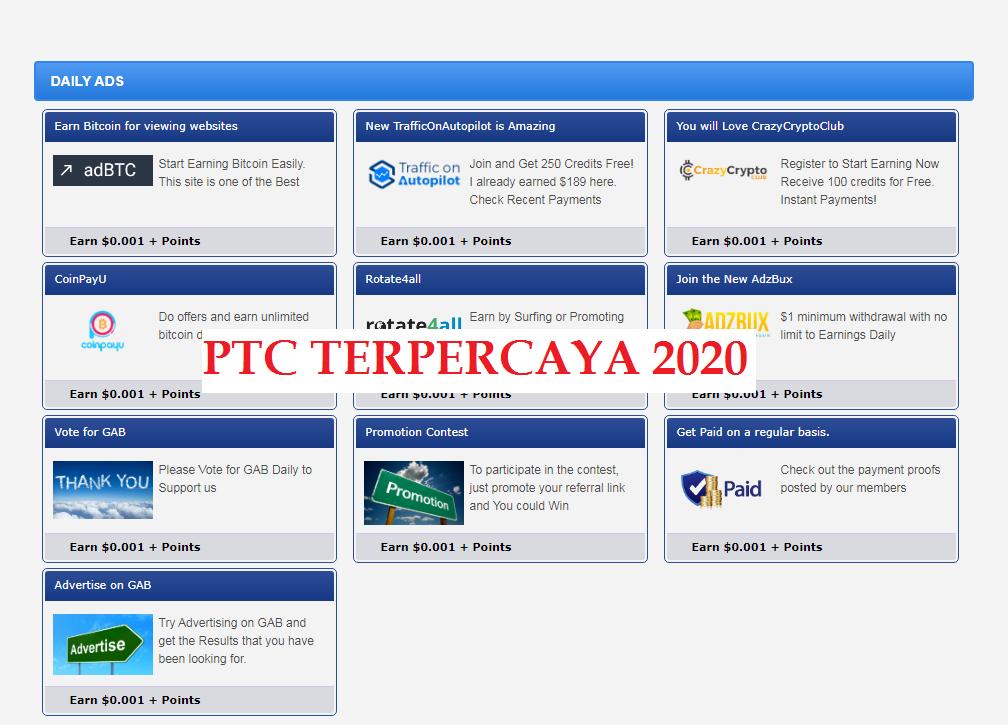 Bisnis Online PTC Terpercaya yang Masih Membayar 2020 ...