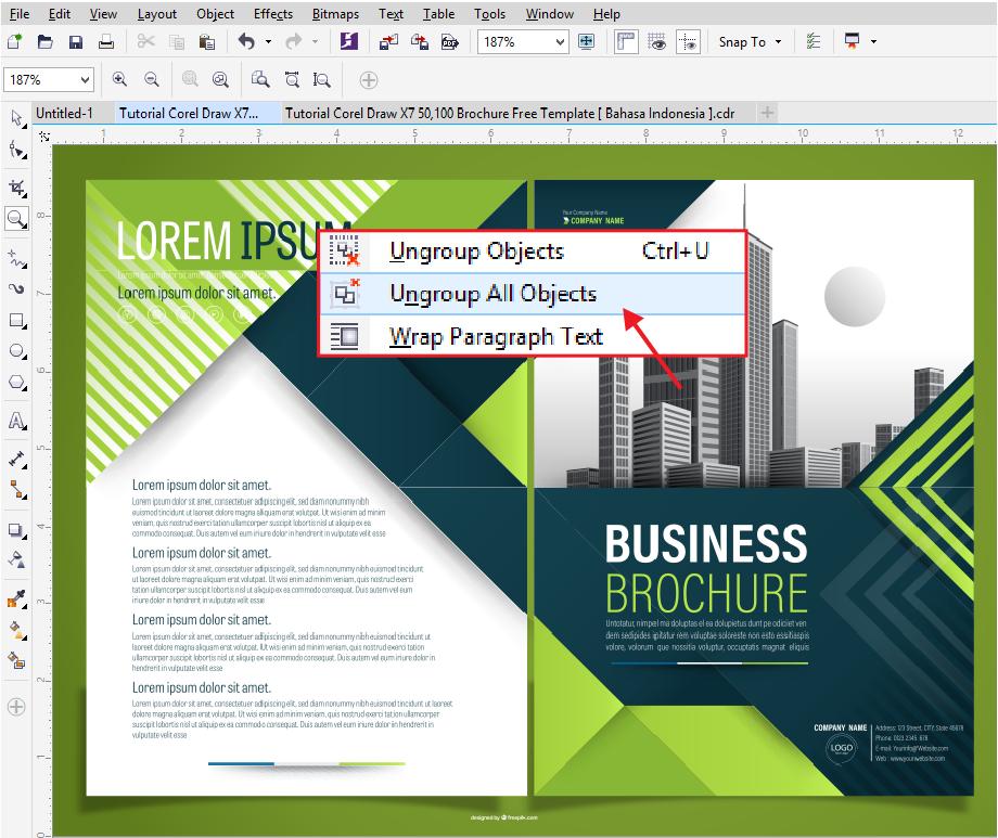 Free Brosur CDR Download Template Brosur Coreldraw Hijau 2