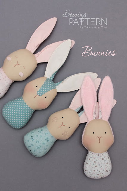 Baby bunny doll sewing pattern