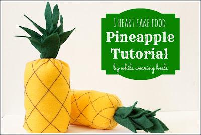 pineapple+137 - Abacaxi de feltro