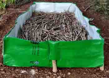 silpaulin vermi bed for vermicomposting, vermibed @organicfarming