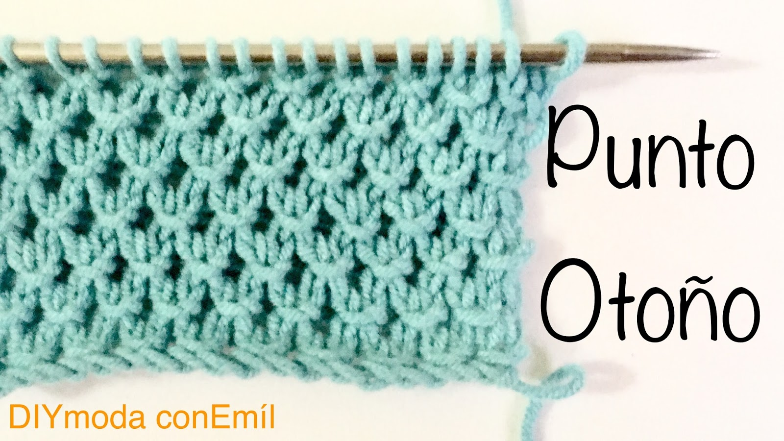 Diymoda conem l punto de oto o a dos agujas instrucciones - Puntos faciles para tejer con dos agujas ...
