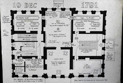 Plan of the first floor at Kingston Hall in December 1791