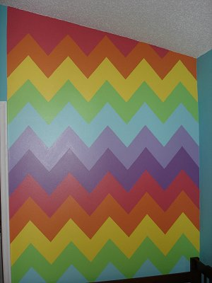 Decorating theme bedrooms maries manor rainbow theme for Zig zag bedroom ideas