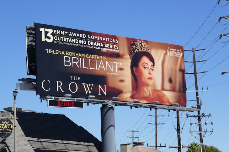 Helena Bonham Carter 2020 Crown Emmy billboard