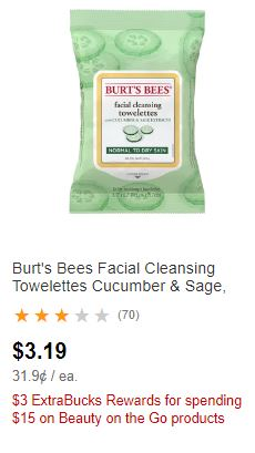Burt's Bees Facial Cleansing Wipes CVS Deal