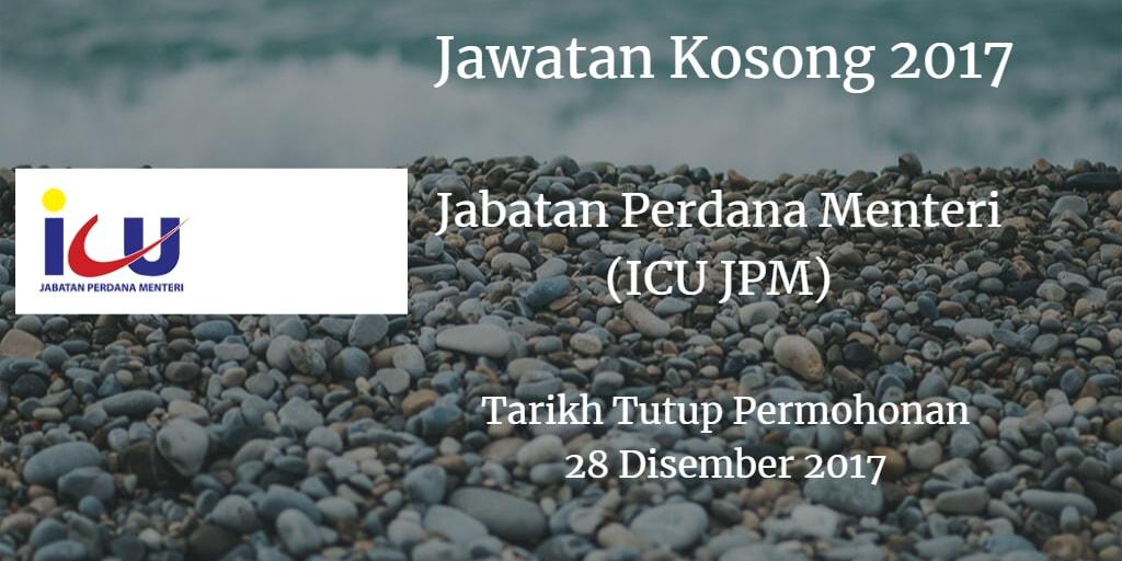Jawatan Kosong Jabatan Perdana Menteri (ICU JPM) 28 Disember 2017