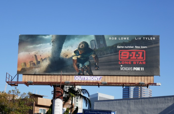 911 Lone Star series launch billboard