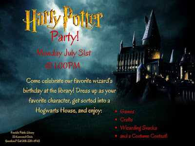 Franklin Public Library: Harry Potter Party - July 31