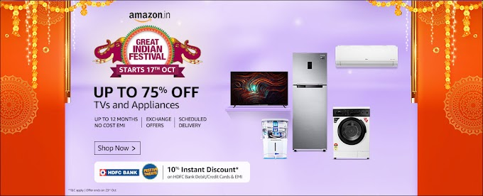 Amazon Sale: Home Appliances UPTO 75% OFF