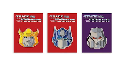 San Diego Comic-Con 2019 Exclusive Transformers Generation 1 Portrait Enamel Pin Series by Tom Whalen x Mondo
