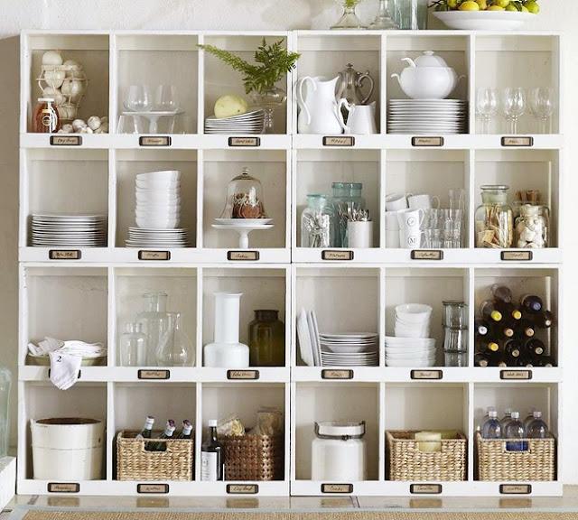 Kitchen Storage Cubbies