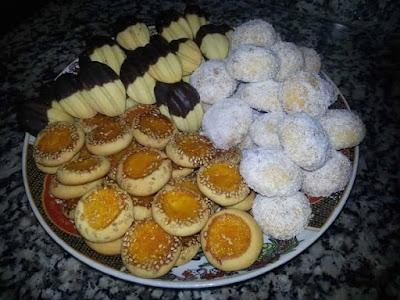 حلويات مغربية بعجين واحد