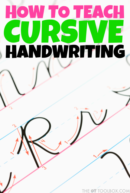 Many times parents and teachers struggle with how to teach cursive handwriting. These cursive tips, cursive writing tools, and handwriting activities will help kids learn to write in cursive.