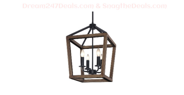 KingSo 4-Light Chandelier Rustic Metal Pendant Light 30% OFF