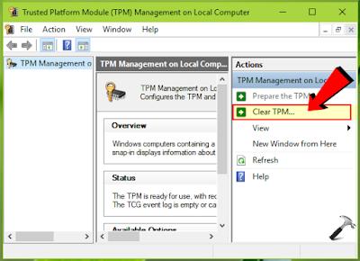 TPM.MSC Run command and Trusted Platform Module