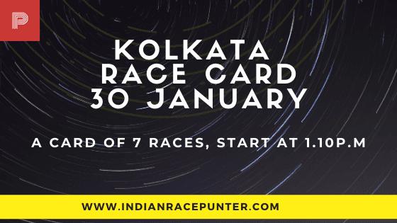 Kolkata Race Card 30 January