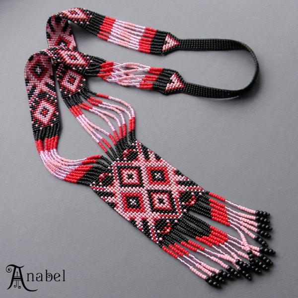 купить гердан украшения из бисера этно-бижутерия anabel