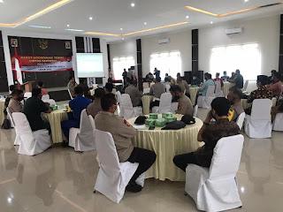 Jelang Pilkada Serentak Tahun 2020, Polres Lingga Gelar Rakor Teknis Lintas Sektoral