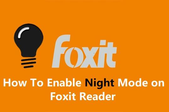 Foxit Reader Night Mode