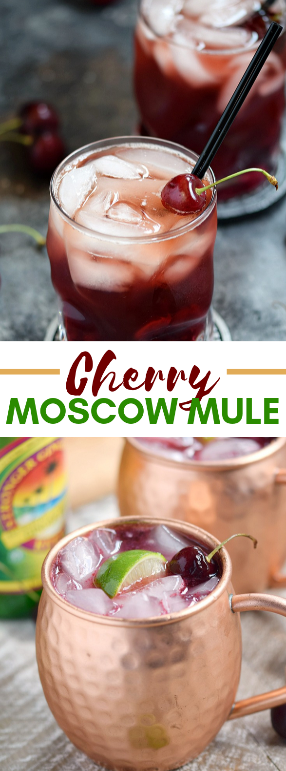 CHERRY MOSCOW MULE #drinks #summerdrink