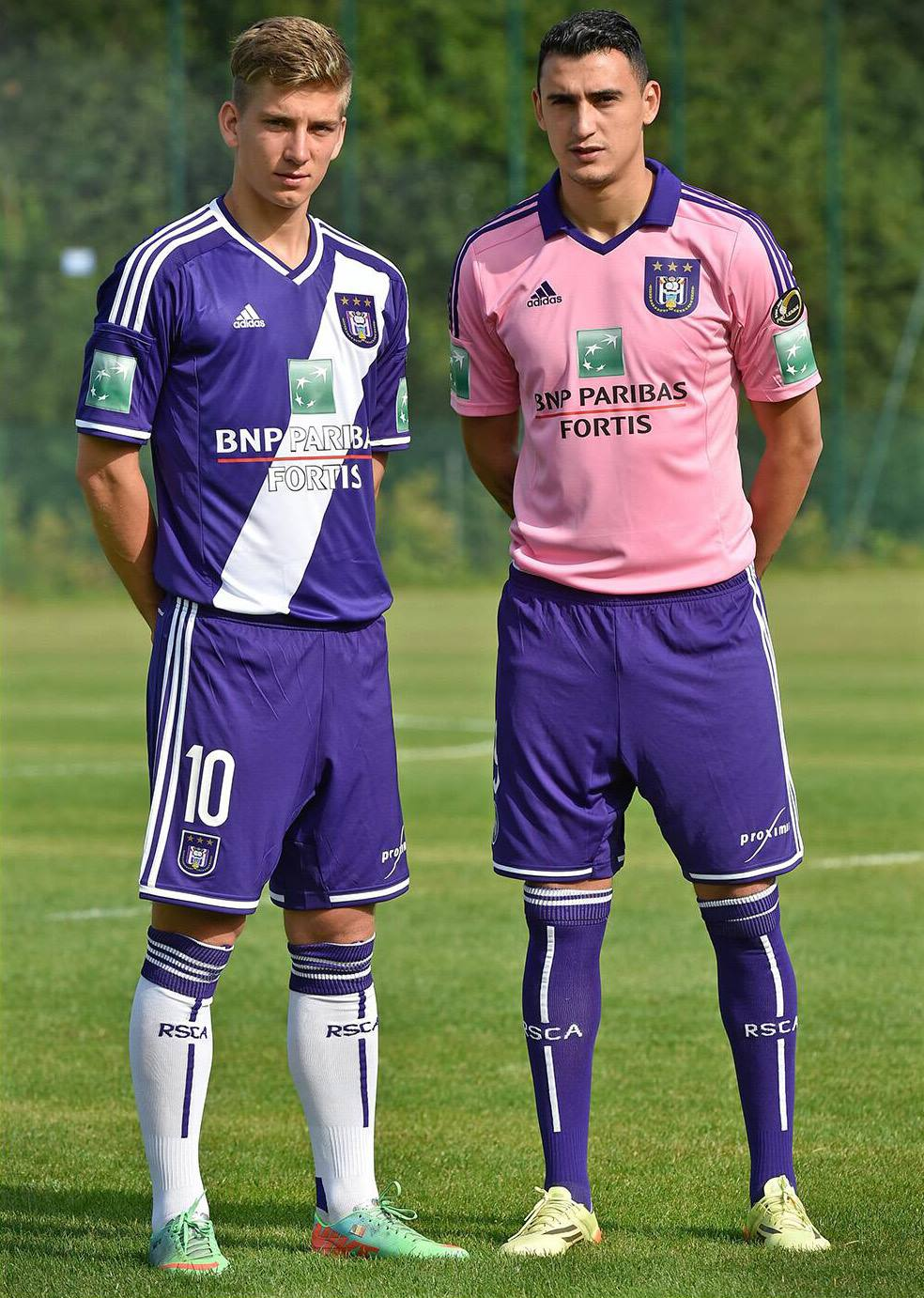 e71c662a8 RSC Anderlecht 14-15 Home + Pink Away Kit Released - Footy Headlines