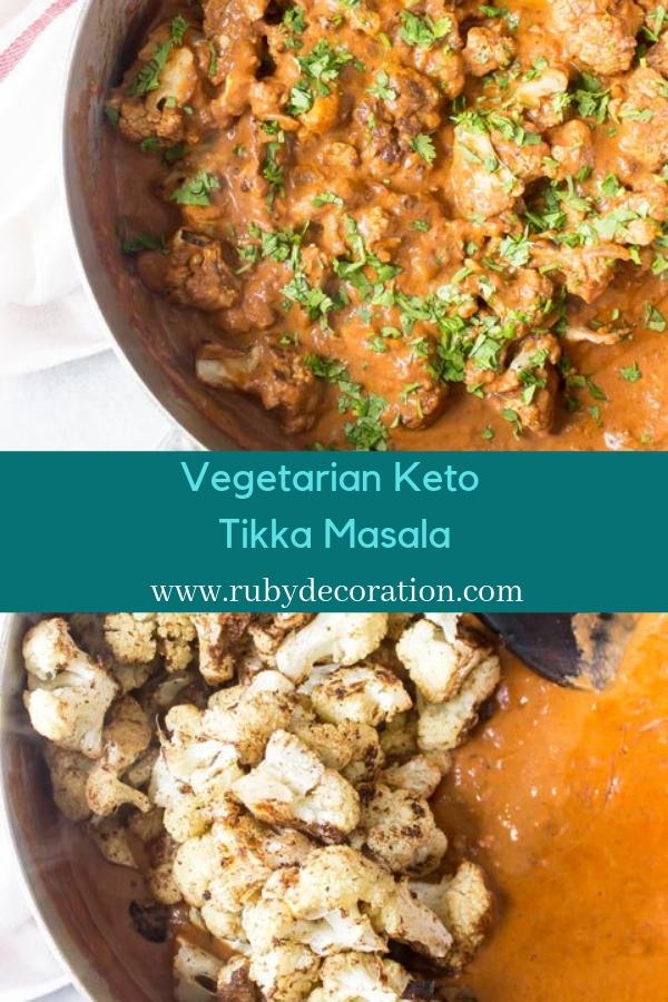 Vegetarian Keto Tikka Masala