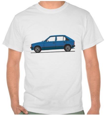 Opel Kadett D t-shirt Vauxhall Astra Mk1