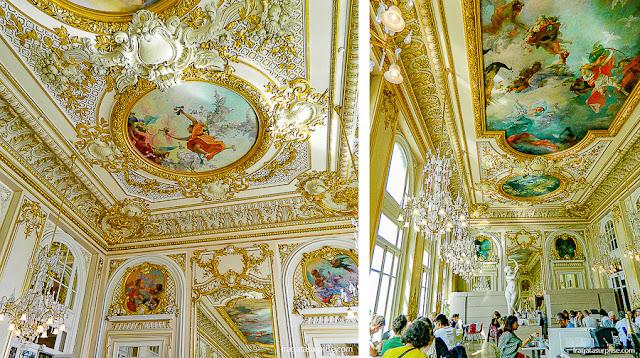 Decoração Belle Époque do restaurante do Museu D'Orsay, Paris