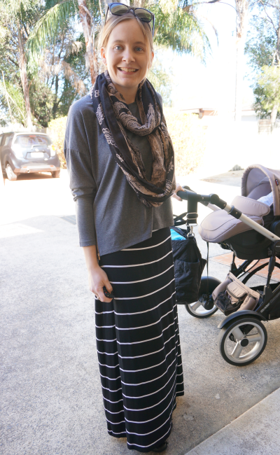 a965dd630d Away From Blue | Aussie Mum Style, Away From The Blue Jeans Rut: Wearing  Maxi Skirts in Winter - Scarves and Long Sleeve Tees