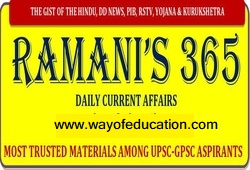 RAMANI'S DAILY CURRENT AFFAIRS