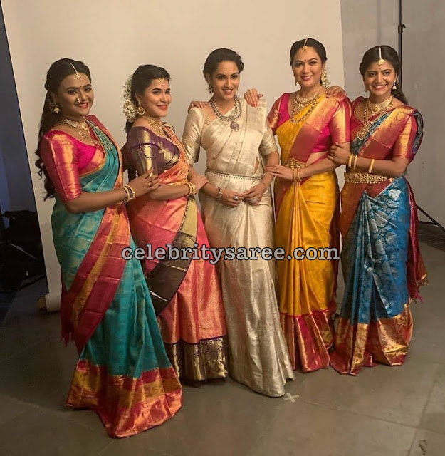 TV Srtists in Traditional Sarees