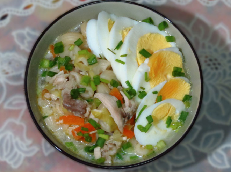 This is Macaroni soup also known as Sopas in the Philippines.