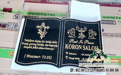Harga Batu Nisan Kristen, Jual Nisan Bentuk Buku, Nisan Granit