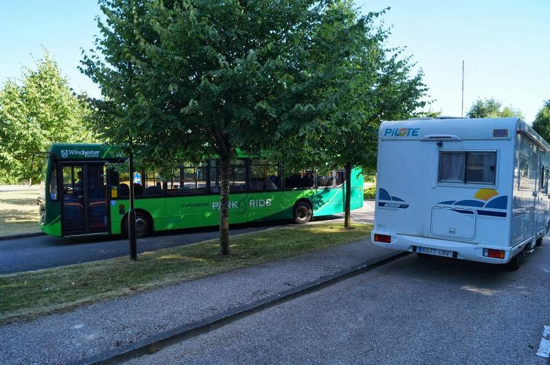 park and ride de Winchester