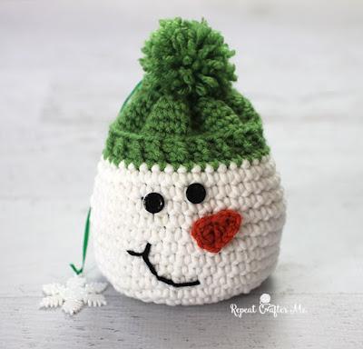 снеговик крючком схема