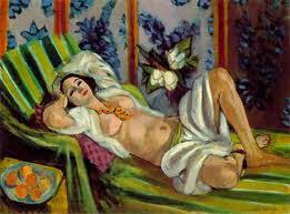 Odalisca com Magnolias - Pinturas de Matisse, Henri - (Fauvismo) Francês