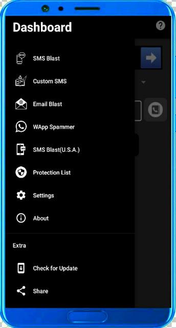 Unknown Calls / Spam Calls - Bombitup App / SMS Blaster App